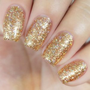 dip powder metallic glitter