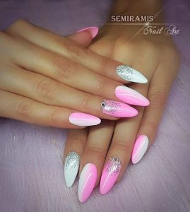 vertical ombre pink white
