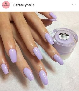 dip powder light purple