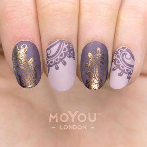 gold purple lace