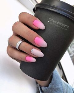 white pink ombre rounded