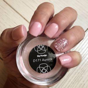 dip powder glitter pink