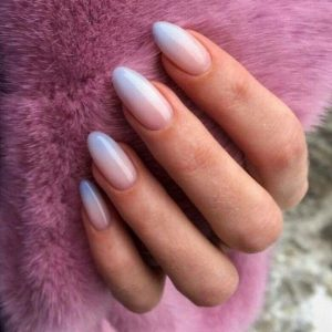 blue tip ombre french tip