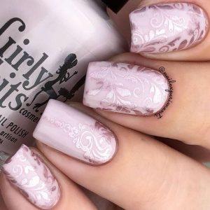 monochrome texture stamp pink
