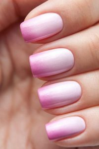 white pink tips fading