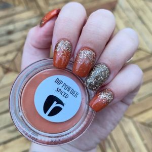 dip powder burnt orange