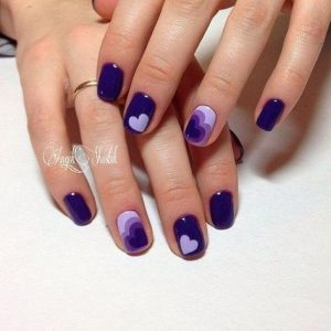 shades of purple heart