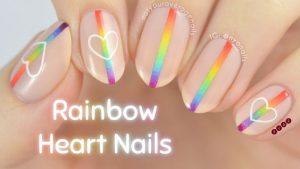 nude rainbow ombre stripe