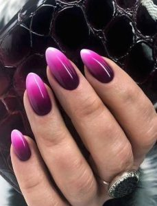 touch of white tip with pink