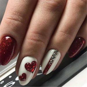 red embellished hearts