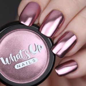 dip powder chrome rose