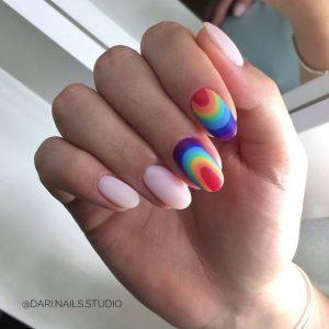 mirror rainbow matte