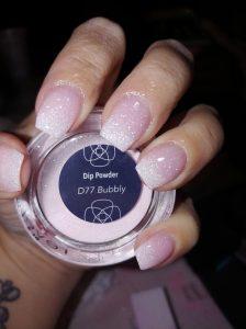 dip powder glitter shimmering