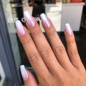 chrome finished ombre french