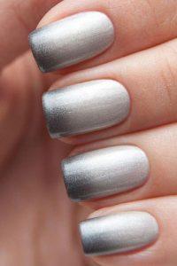 metallic black tip fade