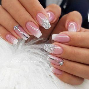 ombre silver touches fade