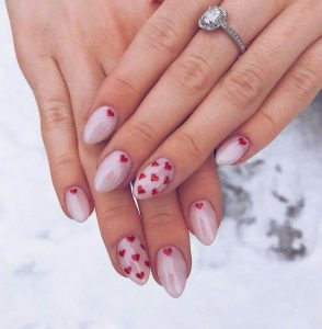 red hearts all over neutral