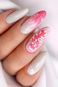 white designed on ombre fading