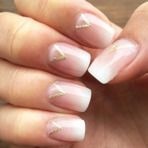 french ombre glitter shape