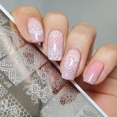 lace stamp on nude