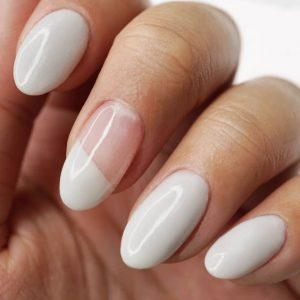 dip powder white shape