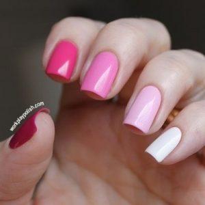 monochrome pinks fading