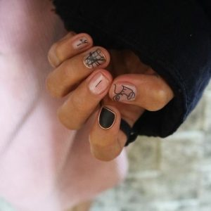 clear nails black whire