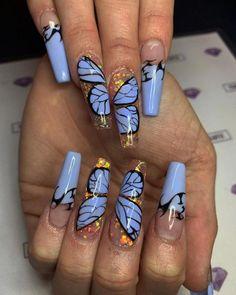 blue clear butterflies coffin