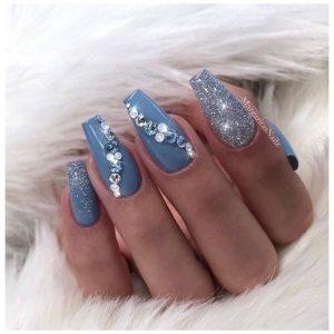 jewels on blue