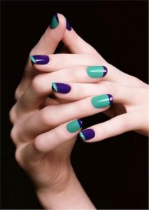 blue shades french tip