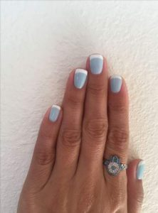 white blue french tips