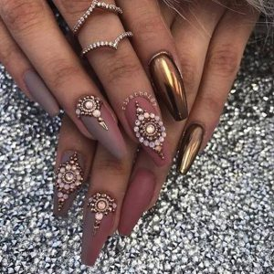 gold nude jewels chrome