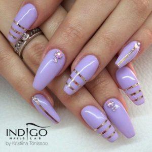 metallic stripe lavender