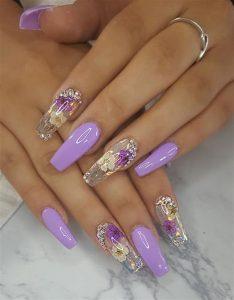 floral clear lavender