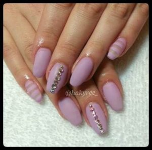 matte lavender striping