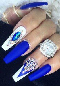 bright blue white jewels