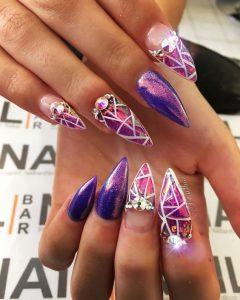 holographic purple jewels