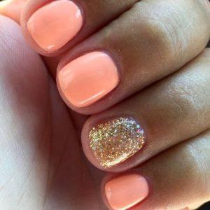 shellac coral glitter