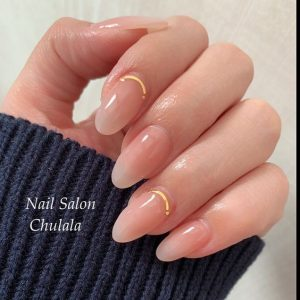 clear almond gold cuticle