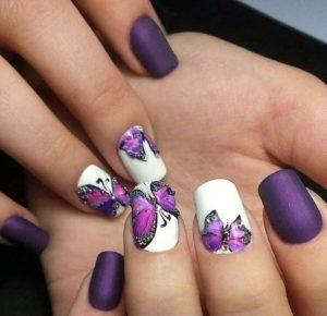 purple matte butterflies