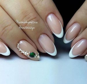 french tip emerald