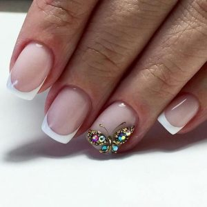french tip butterfly stone