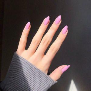 nude pink almond shape