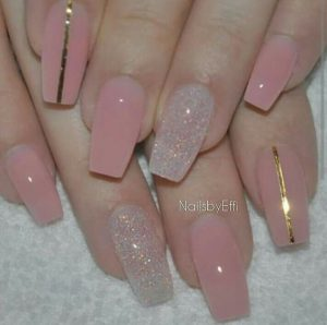 clear nude pink stripes