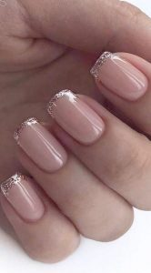 french tip rose gold