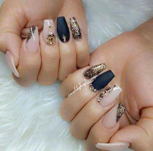 navy metallic jewels