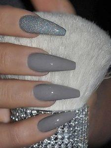 acrylic gray glitter