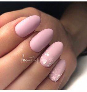 nude pink glitter hologram