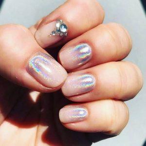 nude iridescent ombre jewel