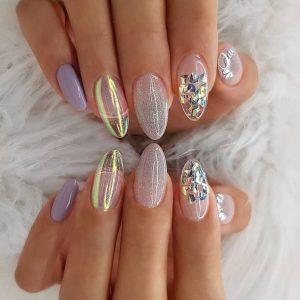 mixed iridescent designs